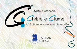 Carte de visite Christelle Clame mariage