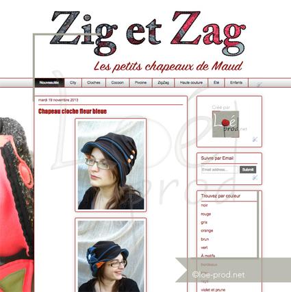 Un blog blogger pour les chapeaux Zig & Zag