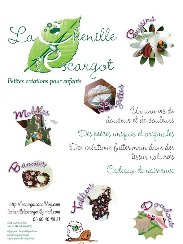 Supports de com papier pour La chenille et l'escargot : bébés bios