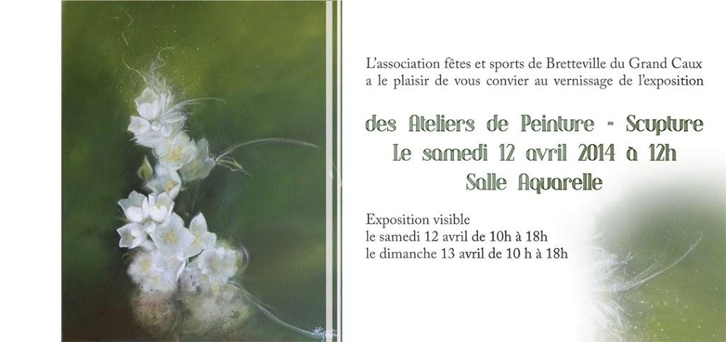 Invitation pour l'exposition peinture sculpture de Bretteville 2014