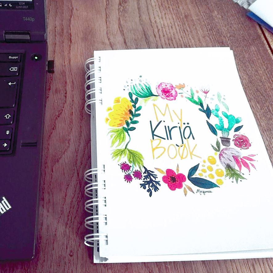 My Kirjä Book agenda personnalisé